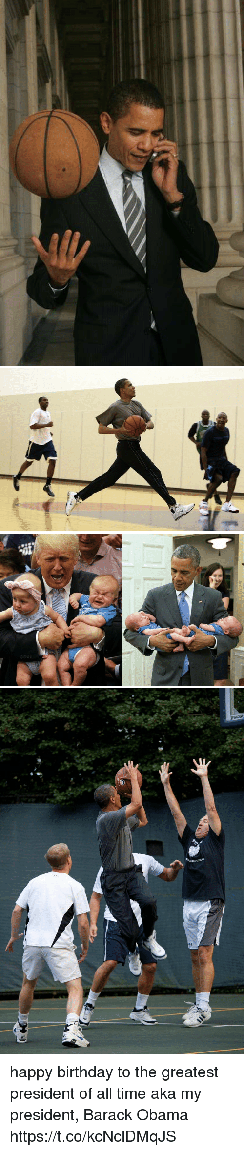 Birthday, Funny, and Obama: happy birthday to the greatest president of all time aka my president, Barack Obama https://t.co/kcNclDMqJS