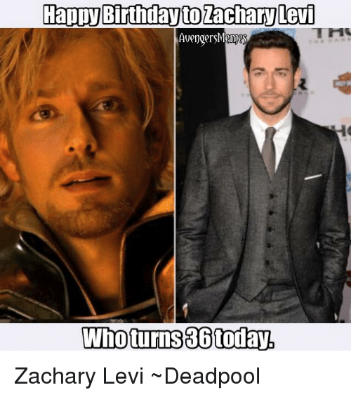 happy birthday to zachary levi avengers who turns 36today zachary 4159079 ✅ 25 best memes about birthday birthday memes