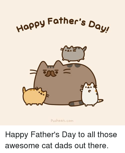 Fathers Day, Memes, and Happy: Happy Father,  D  ayu  Pusheen com Happy Father's Day to all those awesome cat dads out there.