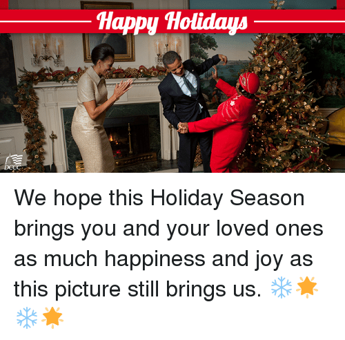 Memes, Happy, and Happiness: Happy Holidaya We hope this Holiday Season brings you and your loved ones as much happiness and joy as this picture still brings us. ❄️🌟 ❄️🌟