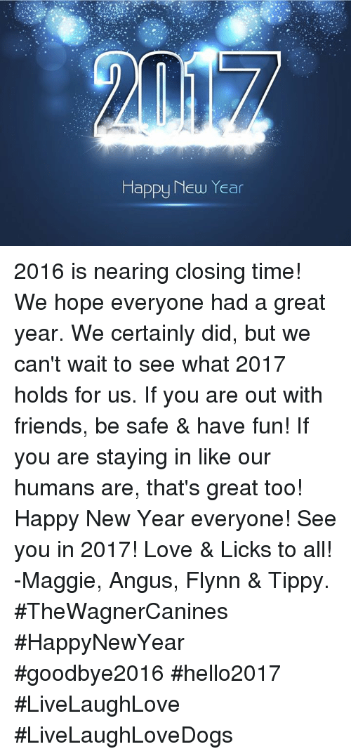 Happy New Year 2016 Is Nearing Closing Time! We Hope Everyone Had a ...