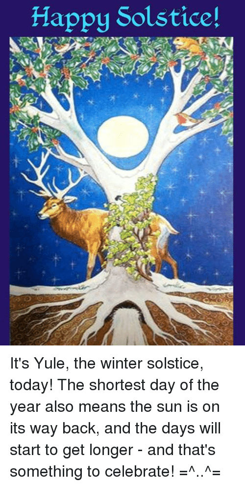 Happy solstice it 39 s yule the winter solstice today the for What day is the shortest day of the year