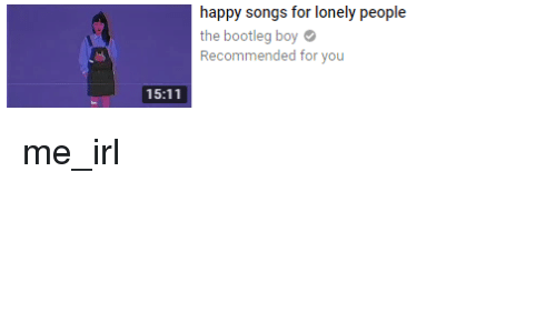 Songs about lonely people