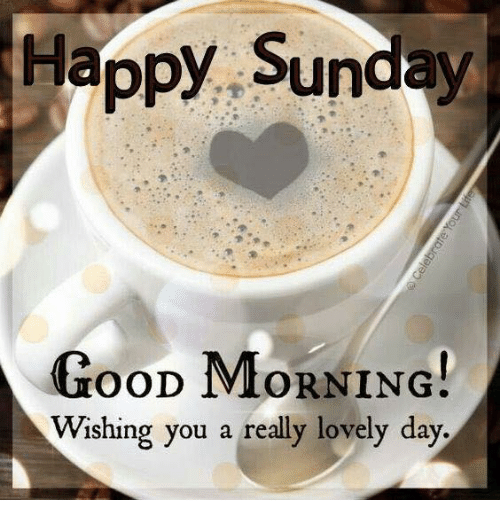 Happy Sunday Good Morning Ood 1viorning Wishing You A Really Lovely