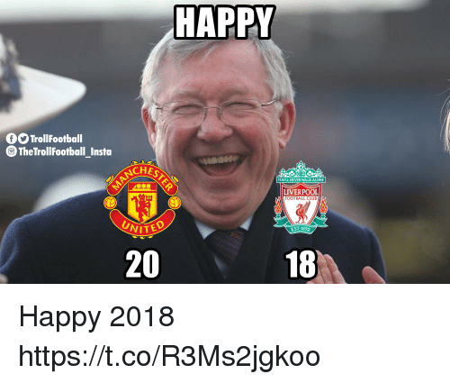 Being Alone, Club, and Football: HAPPY  TrollFootball  TheTrollFootball_Insta  CHES  YOUULL NEVER WALK ALONE  LIVERPOOL  FOOTBALL CLUB  EST 1892  20  18 Happy 2018 https://t.co/R3Ms2jgkoo