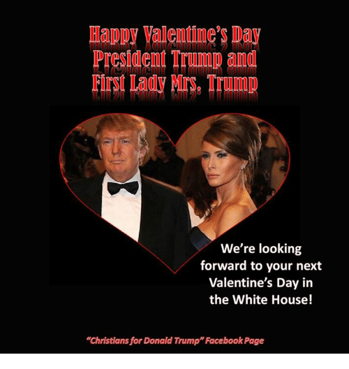 Happy Valentine S Day President Trump And First Lady Trump We Re