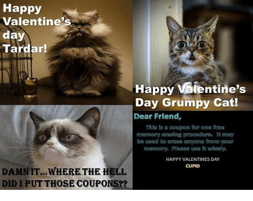 Happy Valentine S Day Tardar Happy Vaientine S Day Grumpy Cat Dear