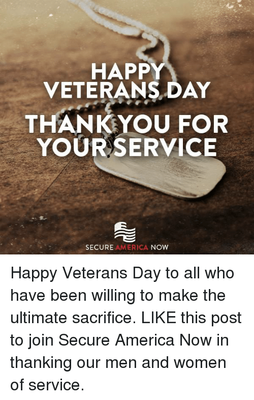 HAPPY VETERANS DAY THANK YOU FOR YOUR SERVICE SECURE ...
