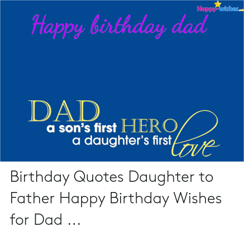 Birthday Dad And Happy Wishes DAD A