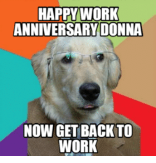 happy work anniversary donna now get back to work 14212145 happy work anniversary donna now get back to work get back to work