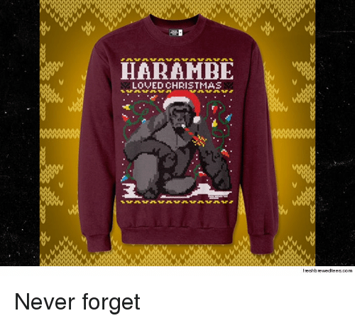 advice animals harambe and never forget harambe loved christmas reshbrewedfeesco never