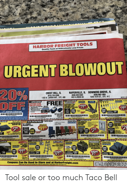 HARBOR FREIGHT TOOLS Quality Tools at Ridicuiously Low ...