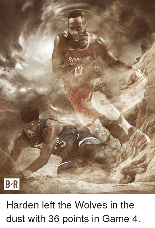 Game, Wolves, and Harden: Harden left the Wolves in the dust with 36 points in Game 4.