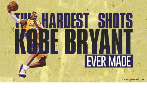 Kobe Bryant, Nba, and Kobe: HARDEST SHOTS  KOBE BRYANT  TU  TAR  EVER MADE  CLUTCHPOInTS