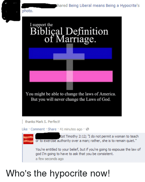 America, God, And Marriage: Hared Being Liberal Means Being A Hypocriteu0027s  Photo.