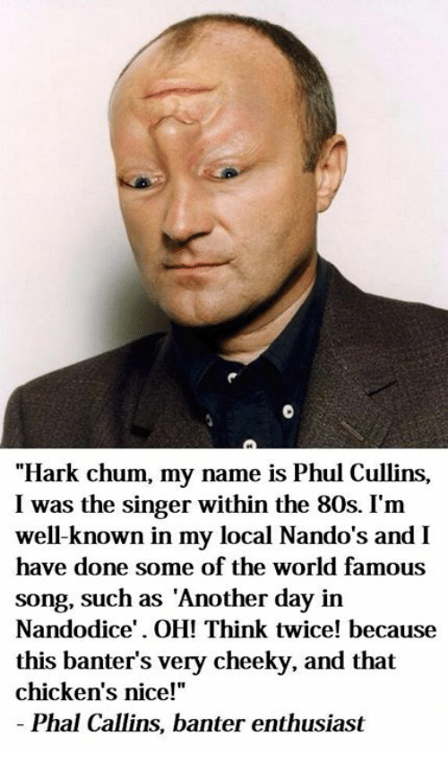 Hark Chum My Name Is Phul Cullins I Was the Singer Within the 80s I