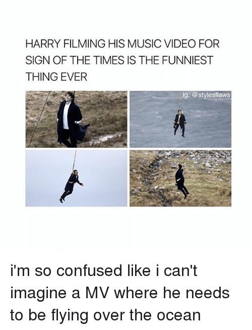 HARRY FILMING HIS MUSIC VIDEO FOR SIGN OF THE TIMES IS THE