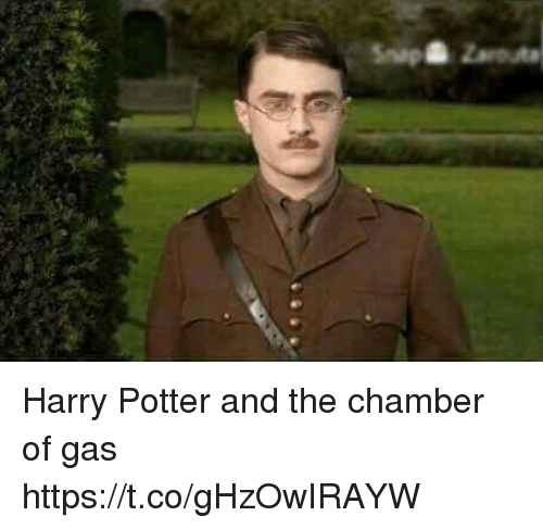Harry Potter, Hood, and Potter: Harry Potter and the chamber of gas https://t.co/gHzOwIRAYW