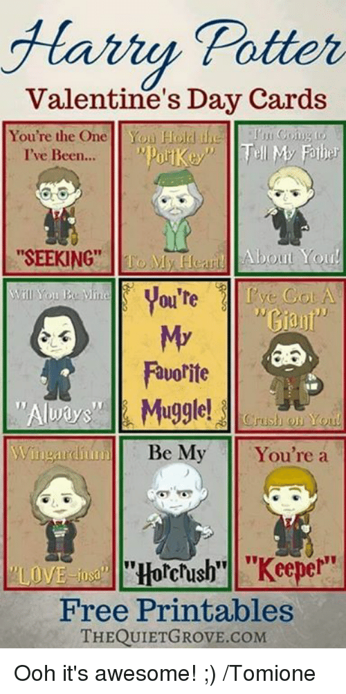 Harry Potter Valentine S Day Cards You Re The One Yon Hold My Father