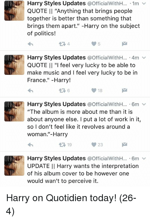Charmant Memes, Music, And Politics: Harry Styles Updates OfficialWithH... 1m V
