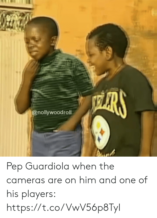 Soccer, Him, and One: HARS  @nollywoodroll Pep Guardiola when the cameras are on him and one of his players: https://t.co/VwV56p8TyI