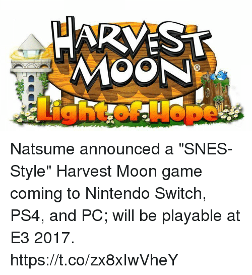 HARVEST MOON Natsume Announced a SNES-Style Harvest Moon