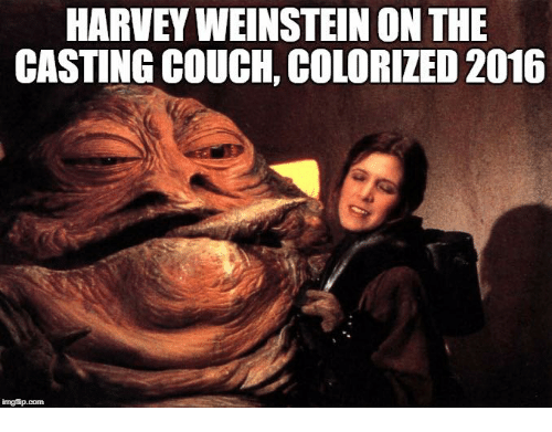 HARVEY WEINSTEIN ON THE CASTING COUCH COLORIZED 2016 | Funny Meme ...