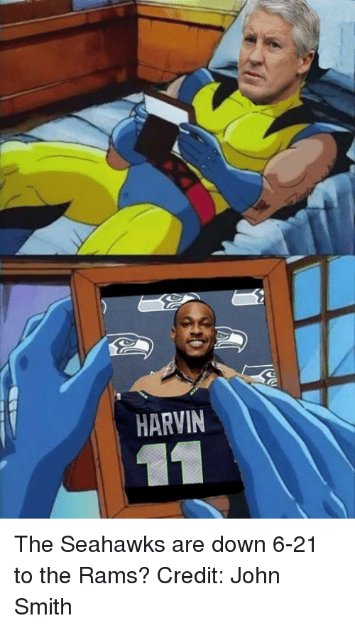 Nfl, Rams, and Seahawks: HARVIN The Seahawks are down 6-21 to the Rams? Credit: John Smith