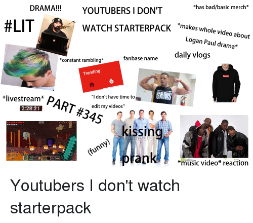 Has Badbasic Merch* DRAMA!! YOUTUBERS I DONT #LIT a WATCH