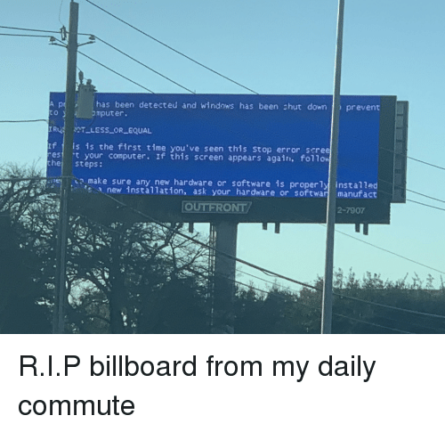Billboard Funny And Windows Has Been Detected Chut Down