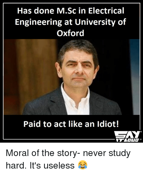 has done m sc in electrical engineering at university of oxford 8284202 ✅ 25 best memes about electrical engineer electrical engineer