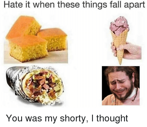 Fall, Memes, and Thought: Hate it when these things fall apart You was my shorty, I thought