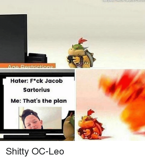 Hater F ck Jacob Sartorius Me That s the Plan Shitty OC-Leo  e4bd13d882f