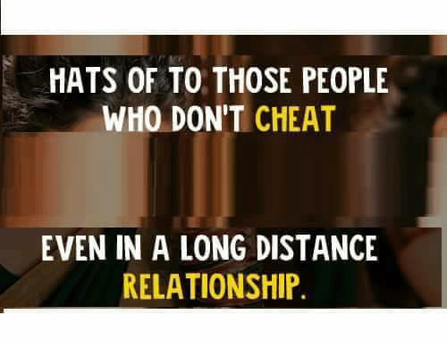 HATS OF TO THOSE PEOPLE WHO DON'T CHEAT EVEN IN a LONG