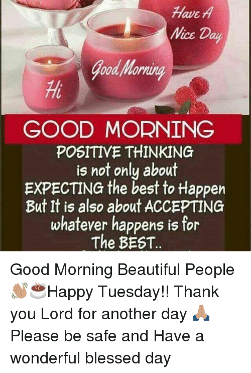 Have A Mice Day Good Morning Positive Thinking Is Not Only About