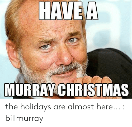 Murray Christmas.Have A Murray Christmas The Holidays Are Almost Here