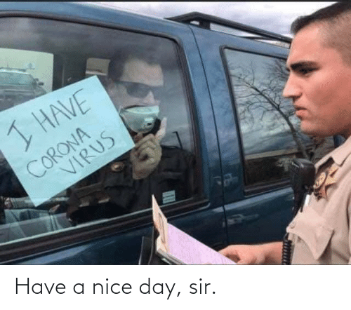 Nice, Day, and Sir: Have a nice day, sir.