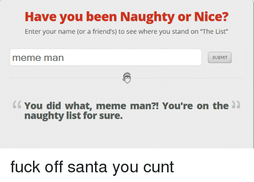 Cunt list name