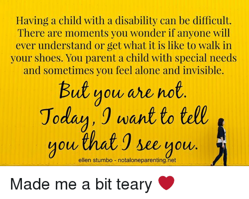 3ab169994627 Having a Child With a Disability Can Be Difficult There Are Moments ...