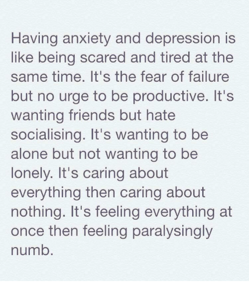 Depression from being alone