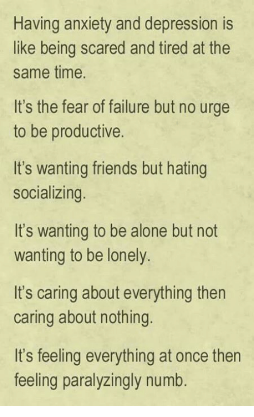 Depression fear of being alone