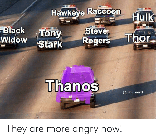 Hawkeye Raccoon Hulk Black Tony Steve Stark Rogers Thor They Are More Angry Now Marvel Comics Meme On Me Me