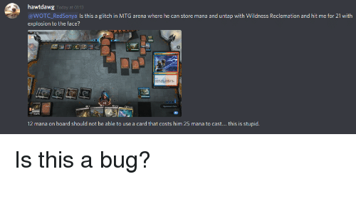 Hawtdawg Is This a Glitch in MTG Arena Where He Can Store