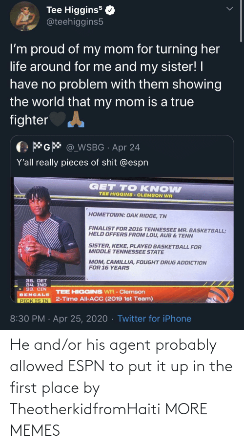 Dank, Espn, and Memes: He and/or his agent probably allowed ESPN to put it up in the first place by TheotherkidfromHaiti MORE MEMES