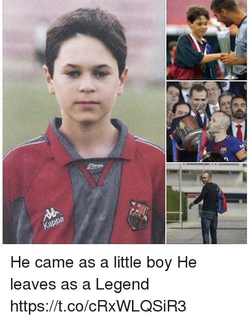 Memes, Boy, and 🤖: He came as a little boy He leaves as a Legend https://t.co/cRxWLQSiR3