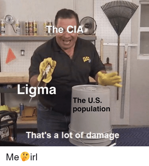 Love Each Other When Two Souls: He CIA Ligma The US Population That's A Lot Of Damage