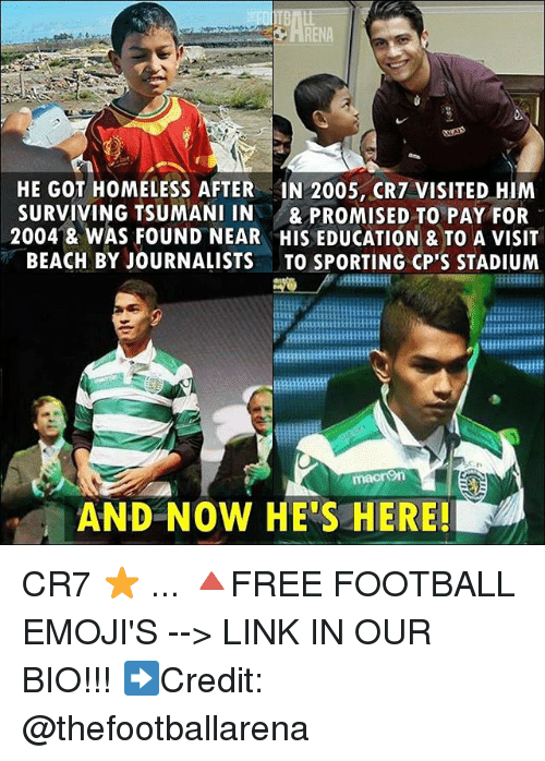 Football, Homeless, and Memes: HE GOT HOMELESS AFTER IN 2005, CR7 VISITED