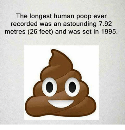 He Longest Human Poop Ever Recorded Was an Astounding 792 Metres 26