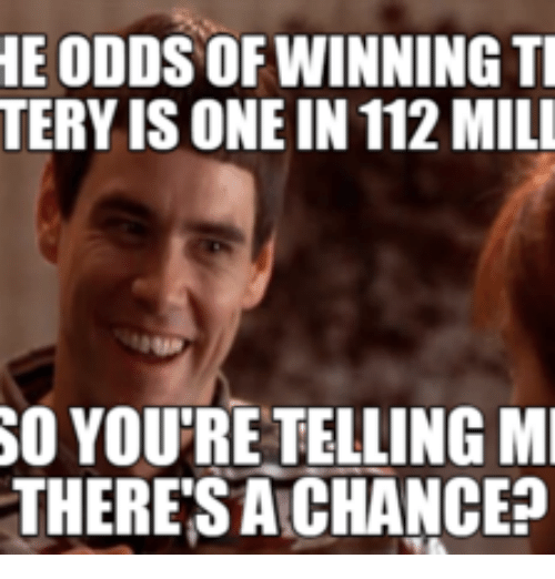 he odds ofwinning ti tery is one in 112mill so 15026573 ✅ 25 best memes about lottery meme lottery memes