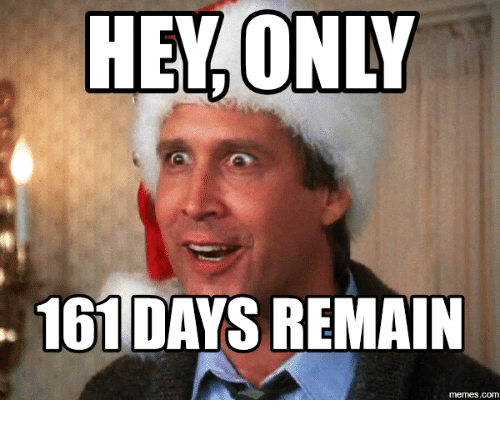 Countdown To Christmas Meme.He Only 161 Days Remain Memescom Christmas Countdown Meme